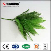 venta al por mayor nuevas hojas de seda artificial colgantes para la decoración de navidad