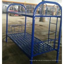 Cama de aço do uso do trabalho cor azul cama de beliche barata do metal do preço