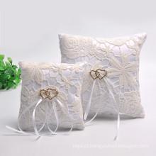 atacado de alta qualidade belo casamento decoração anel portador travesseiro