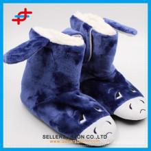 Ladies super soft animal style flannel slipper warm fuzzy indoor slipper boot