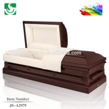 Vente des cercueils de bois en gros style américain cerise chaude
