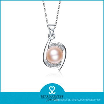 2015 China atacado pérola jóias 925 pingente de prata esterlina (N-0099)