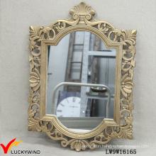 Gilded Wooden Framed Vintage French Hanging Mirror