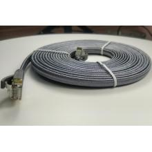 Cable trenzado plano para computadora de red de Internet Cat7