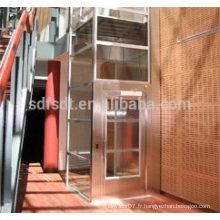 Ascenseur panoramique avec salle de machine moins, prix de fabrication de tourisme