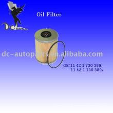 Elemento de filtro de óleo 11 42 1 730 389 para bmw
