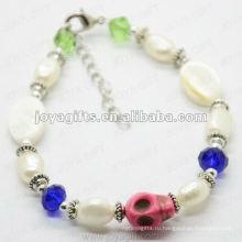 Мода 2012 Розовый браслет Skull Joya
