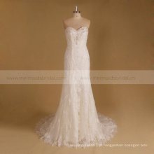 Vestido de noiva Strapless vestidos de novia 2016