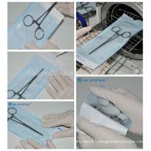 Fournitures dentaires de la poche médicale jetable à hautes températures d'emballage de stérilisation de joint d'individu / sacs