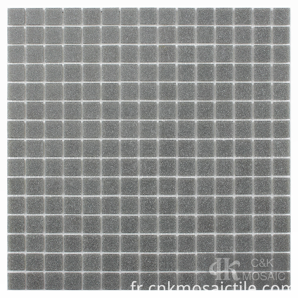 Grey Glass Tile Backsplash