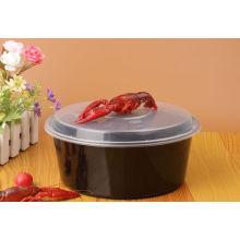 Wegwerfbare Microwavable runde kleine pp. Plastiknahrungsmittelbehälter für Nahrung