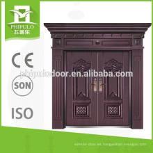 Puerta doble con diseño de lujo hecho en Yongkang China.