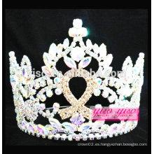 Tiara de cristal de lujo de la cinta colorida de calidad superior