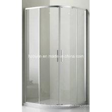 Cuarto de la cabina de ducha de vidrio transparente (E-01 Vidrio transparente sin bandeja)