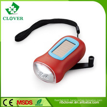 2015 new style mini 3 led dynamo solar flashlight for promotion