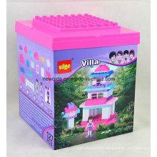Rosa 127PCS Landhaus-Plastikspielzeug-Ziegelsteine für Jungen und Mädchen