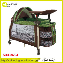 2015 NEW Baby Play Yard Double Layer with Mattress for Fall Autumn and Winter Manufacturer Design Canopy with Toys