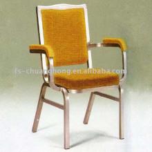 Cadeira de hotel amarelo dourado com braços confortáveis (YC-D114)