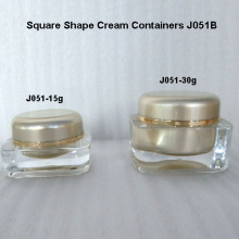 Supplier Square Shape Cream Jar Acrylic Jar