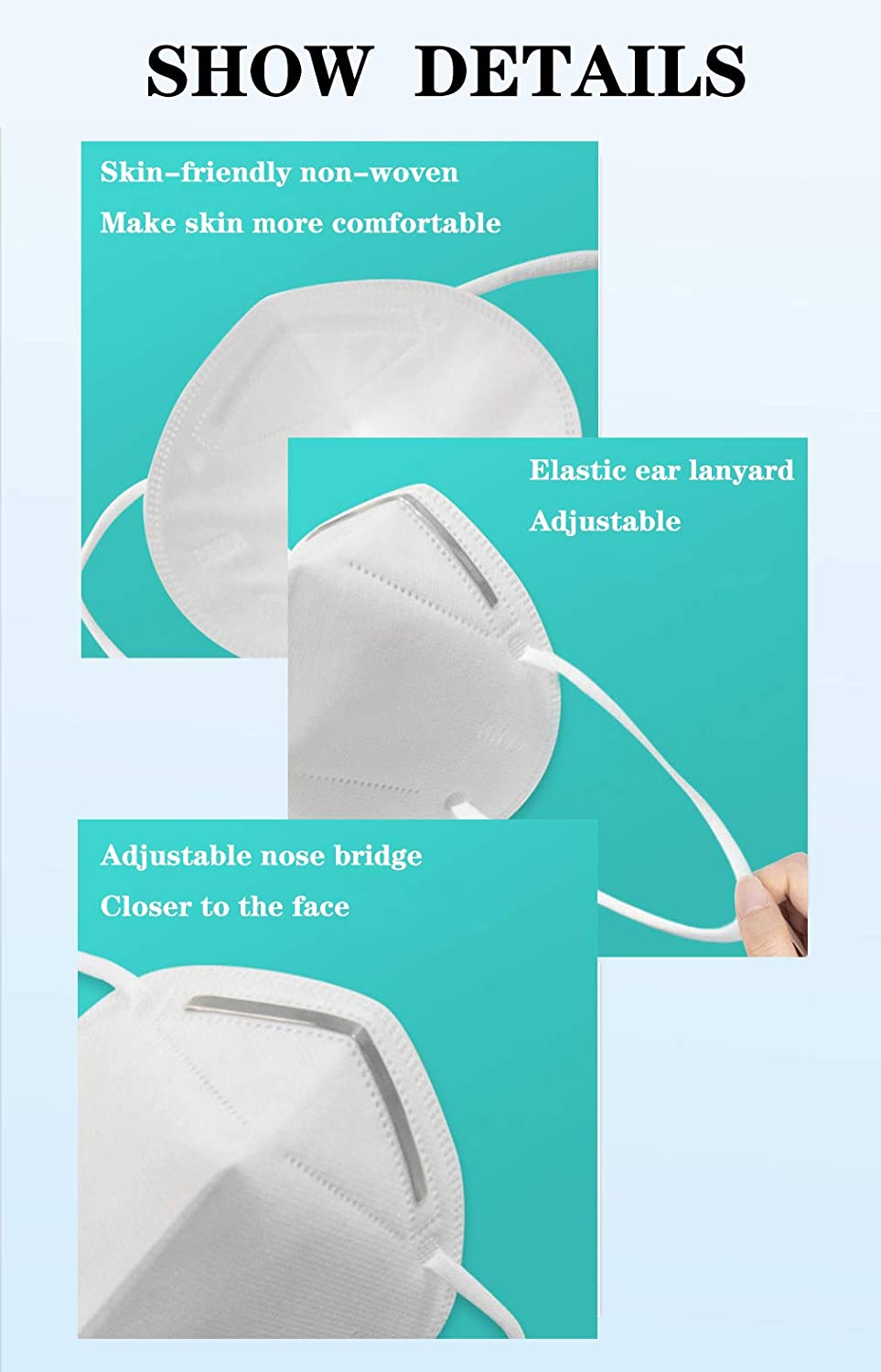 Kn95 Protective Face Mask Fda Registered European Ffp2 Ce En149
