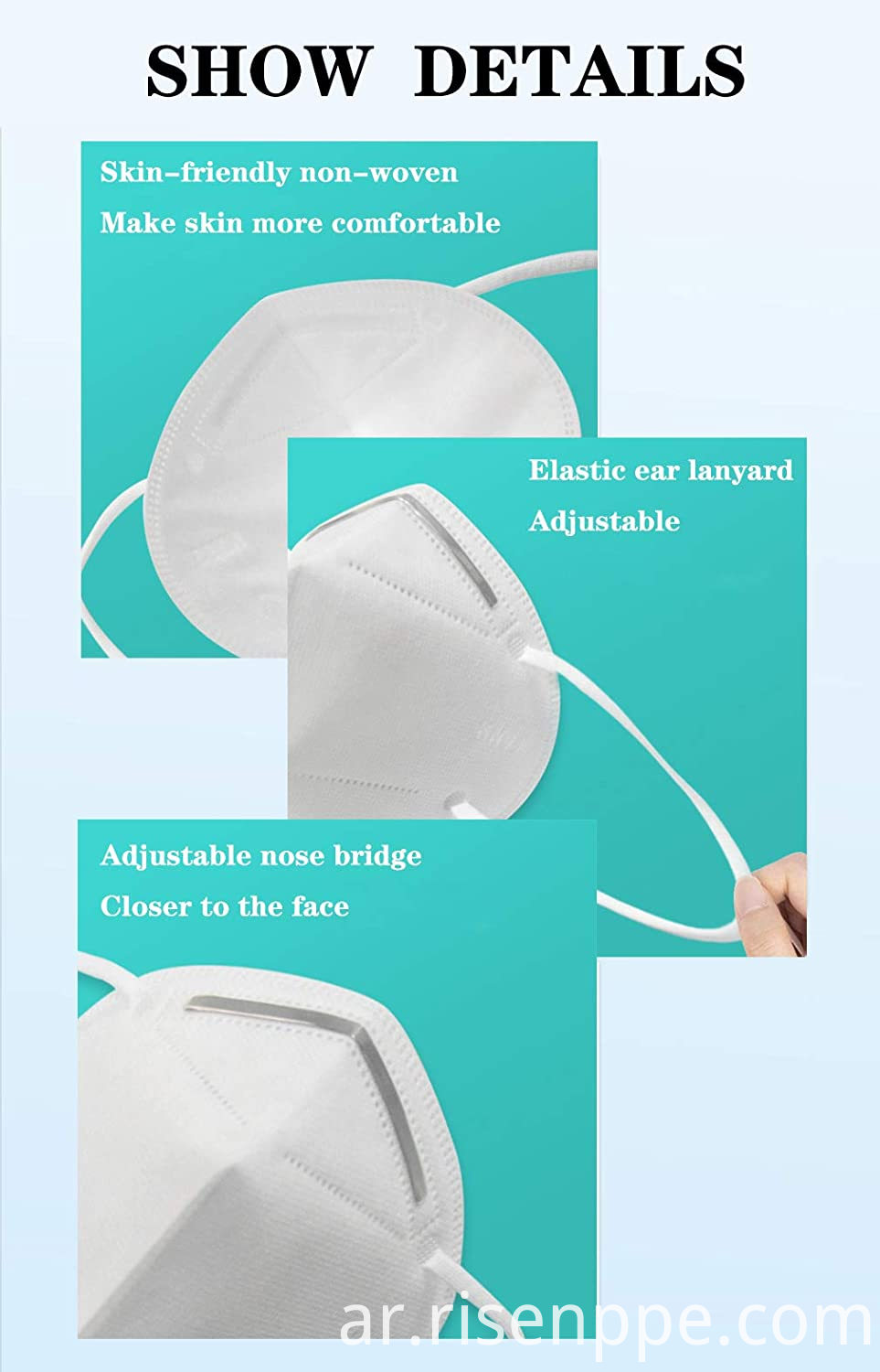 KN95 Protective Face Mask (FDA Registered, European FFP2, CE EN149)