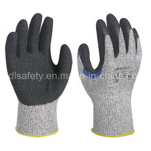 Усиленная работа порезов перчатка с латексной погружения (LD8050)