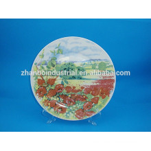 Placas de cerámica de decoración de cerámica placas de porcelana