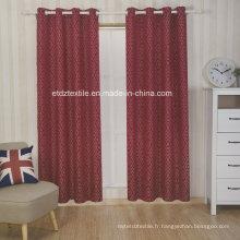Broderie en polyester comme jacquard Rideau de fenêtre à nouveau motif