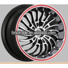 13 polegadas linda réplica preto rodas de liga