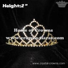 Gold Heart Crystal Crowns