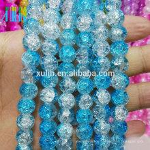 Crack Perlen Glasperlen Großhandel 10mm blaue runde Schmuckperlen