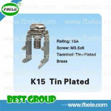 Metallteile K15 Zinnbeschichtet / Elektrischer Klemmenblock / Vorschub durch Klemme Blo