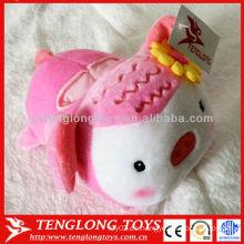 2015 Asiento de cuero rosado encantador del teléfono del juguete de la felpa del cerdo del nuevo diseño
