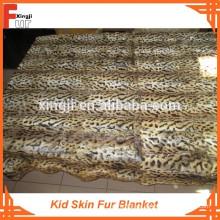 Manta de piel estampada leopardo para niños