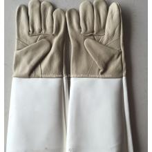 Серый Большой Размер Пожаробезопасная Кожа Сварочные Перчатки