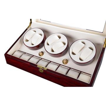 Eleganter Cream Velvet Watch Winder
