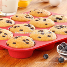 High Quality Cheap Food Grade Non-stick Mini Silicone Bakeware Muffin Pan/Silicone Muffin Mold/Bakeware Silicone Muffin Pan