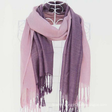 Two tone viscose plain shawl