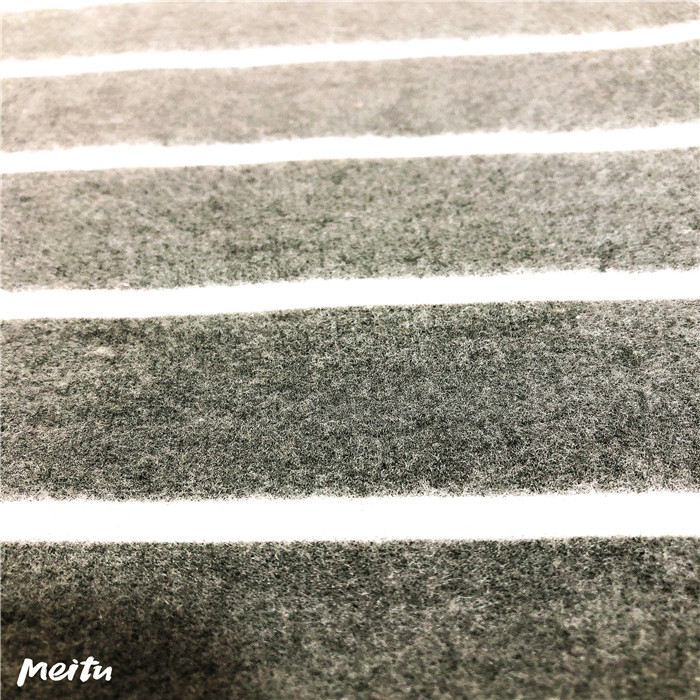 Brushed cashmer fabric with stripes
