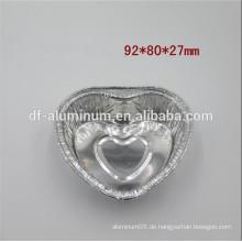 Einweg-Aluminiumfolie Pan Herzform