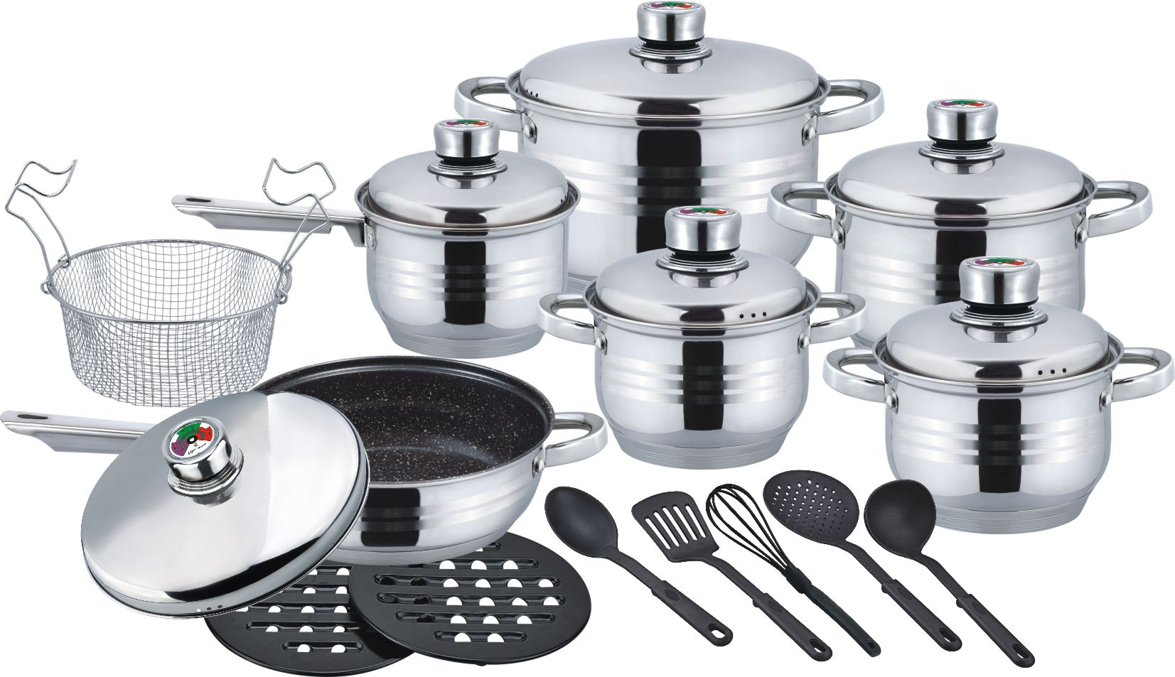 Durable 20pcs belly shape cookware set