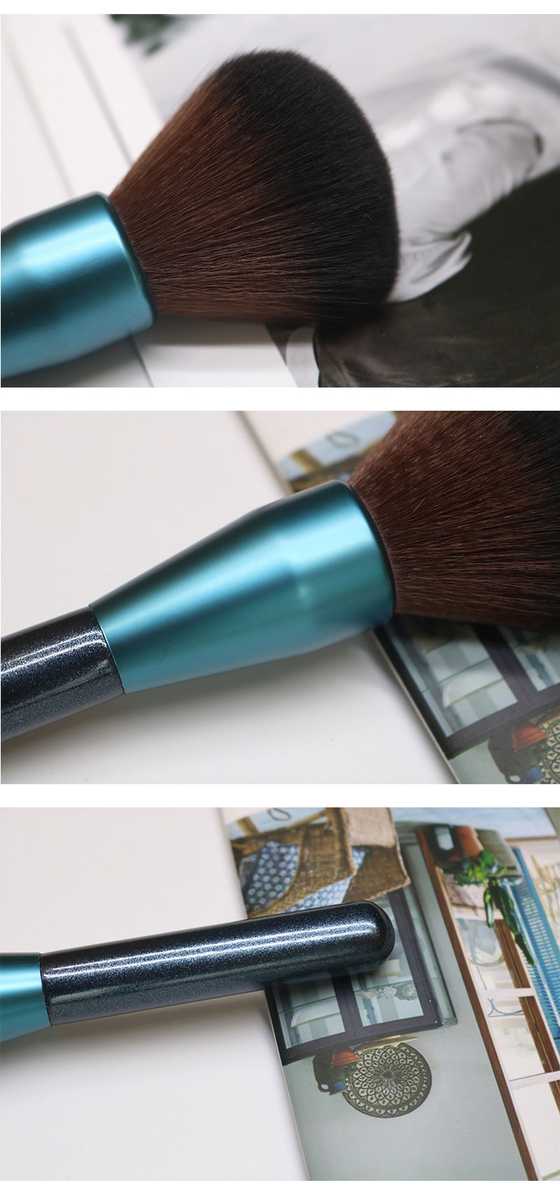 Single Bule Large Powder Brush Kit 7
