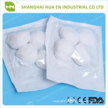 Made in China Hochwertiger 100% reiner Baumwoll-Sterilisier-Baumwollball