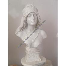 Escultura de piedra de mármol estatua cabeza busto (SY-S297)