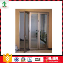 Puerta de aluminio plegable de nuevo diseño Wanjia Puerta de aluminio plegable de nuevo diseño Wanjia