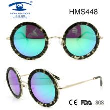 Gafas de sol hechas a mano del acetato de la forma redonda (hms448)