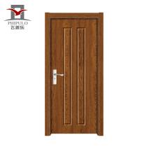 Puerta de madera de diseño de puerta de entrada de pvc interior italiana para proyecto de construcción de proveedores de China