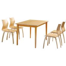 Mesa de comedor de cantina de madera sólida de Guangzhou de calidad superior de alta calidad