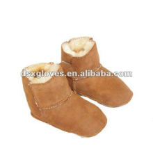 Light Brown Fur Baby Shoes