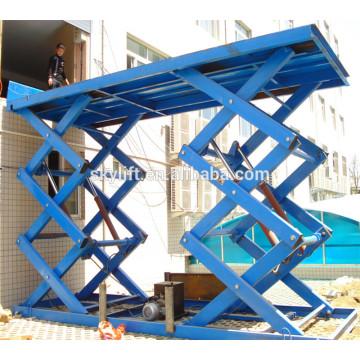 CE Certificated hydraulic scissor cargo lift